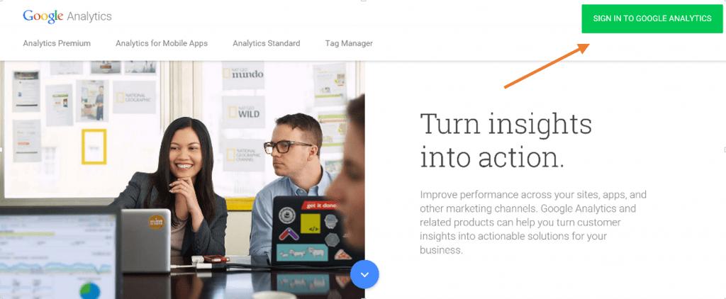 Integrate Google analytics 1